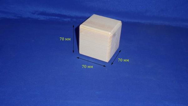 Кубик деревянный 21.004с