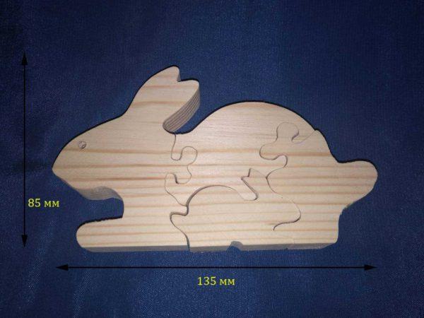 """Фігурка пазл """" заєць""""  12.072"""