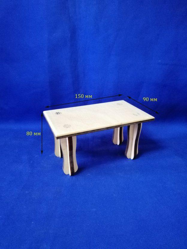 Столик для куклы прямоуголный17.270