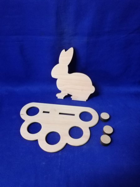 Подставка заяц на 5 яиц 17.319